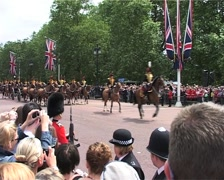 Trooping the Colour, Crowds and Horse Guards, London England GFSD Stock Footage