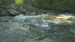Pan Across a Mountain Creek - HD 720 - stock footage