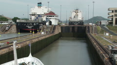 Stock Video Footage of Lock on the Panama Canal