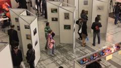 Photo exhibition Stock Footage