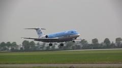 Cityhopper, Fokker 70 landing KLM - stock footage