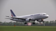 Air france airbus landing Stock Footage