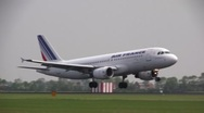Stock Video Footage of Air france airbus landing