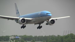 Landing gear from Boeing 777 , KLM - stock footage