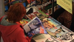 Magazine stall Stock Footage