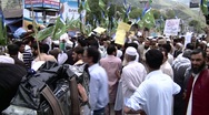 Stock Video Footage of Anti American Protest in Abbottabad, Pakistan