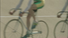 A group of cyclists ride together. Stock Footage