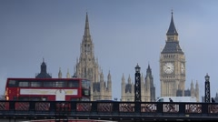 London. Big Ben. - stock footage