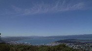 Stock Video Footage of Beautiful day high over Wellington