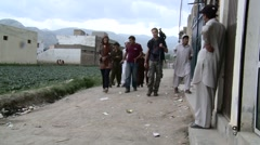 International Journalists in Abbottabad, Pakistan Stock Footage