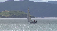 Working through a yacht race Stock Footage