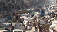 Stock Video Footage of Bazaar and traffic Islamabad