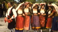Greek Traditional Folk Dance Performance V4- Vintage Super8 Film Stock Footage
