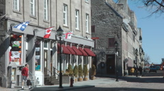 Rue St Paul East In Old Montreal Old Port Historic Area Canada - stock footage