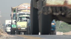 Busy highway in Pakistan's capital city Islamabad Stock Footage