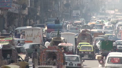 Chaotic street in Islamabad Stock Footage