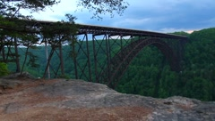 Stock Video Footage of New River Gorge Bridge WV