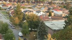 Suburban Homes, Overhead Shot, Burnaby, British Columbia, Canada Stock Footage