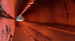 Saddle Bar Tunnel, Trans Canada Highway Stock Footage