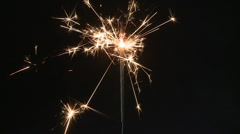 Sparkler, slow motion Stock Footage