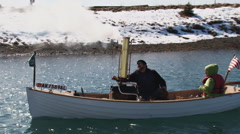 Steam Boat 4 - stock footage