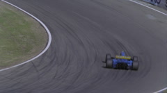 Formula cars compete on a circuit track. Stock Footage