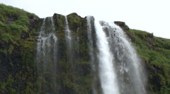 Seljalandsfoss near Reykjavik Stock Footage