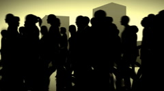 Anonymous crowds of people in the city. Stock Footage