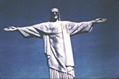 Jesus Christ Statue Corcovado Rio Brazil - Vintage 8mm Film Stock Footage