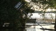 Fallen treehouse Stock Footage