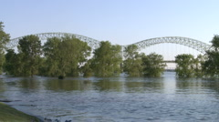 de soto bridge 2 - stock footage