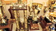 Stock Video Footage of Many trophies
