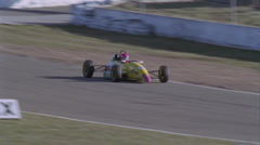 A formula car drives on a circuit track. Stock Footage
