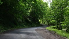 Driving on country road of WV - stock footage