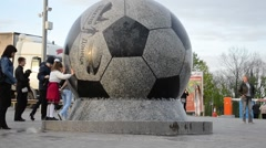 Shakhtar Donetsk's new soccer stadium Stock Footage