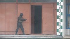 Capture the terrorist, military training Stock Footage