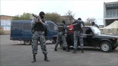 capture the terrorist, military training - stock footage