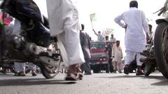 Islamist Rally in Karachi, Pakistan Stock Footage