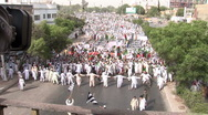 Stock Video Footage of Islamist Rally in Karachi, Pakistan