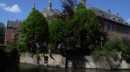 BrugesCanal1 Stock Footage