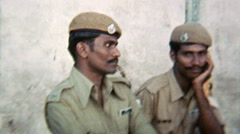 India 1970s – Men Police Army- Vintage Super8 Film Stock Footage