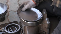 Kashgar metal worker - 3 Stock Footage