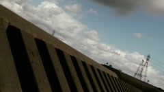 Clouds in the Ditch Stock Footage