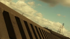 Clouds in the Ditch - stock footage