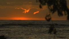 Hawaii, Molokai, sunset ocean Stock Footage