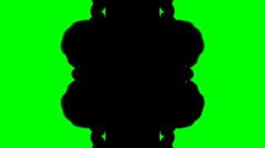 Ink Blot Chroma Key Stock Footage