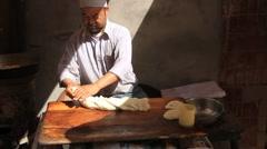 Uyghur Donut stand in Kashgar 1 Stock Footage