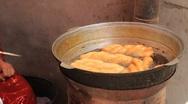 Uyghur Donut stand in Kashgar 5 Stock Footage