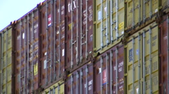 Stacked containers Stock Footage