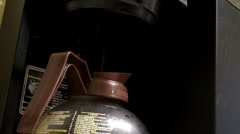 Coffee pot - Brewing Coffee - stock footage